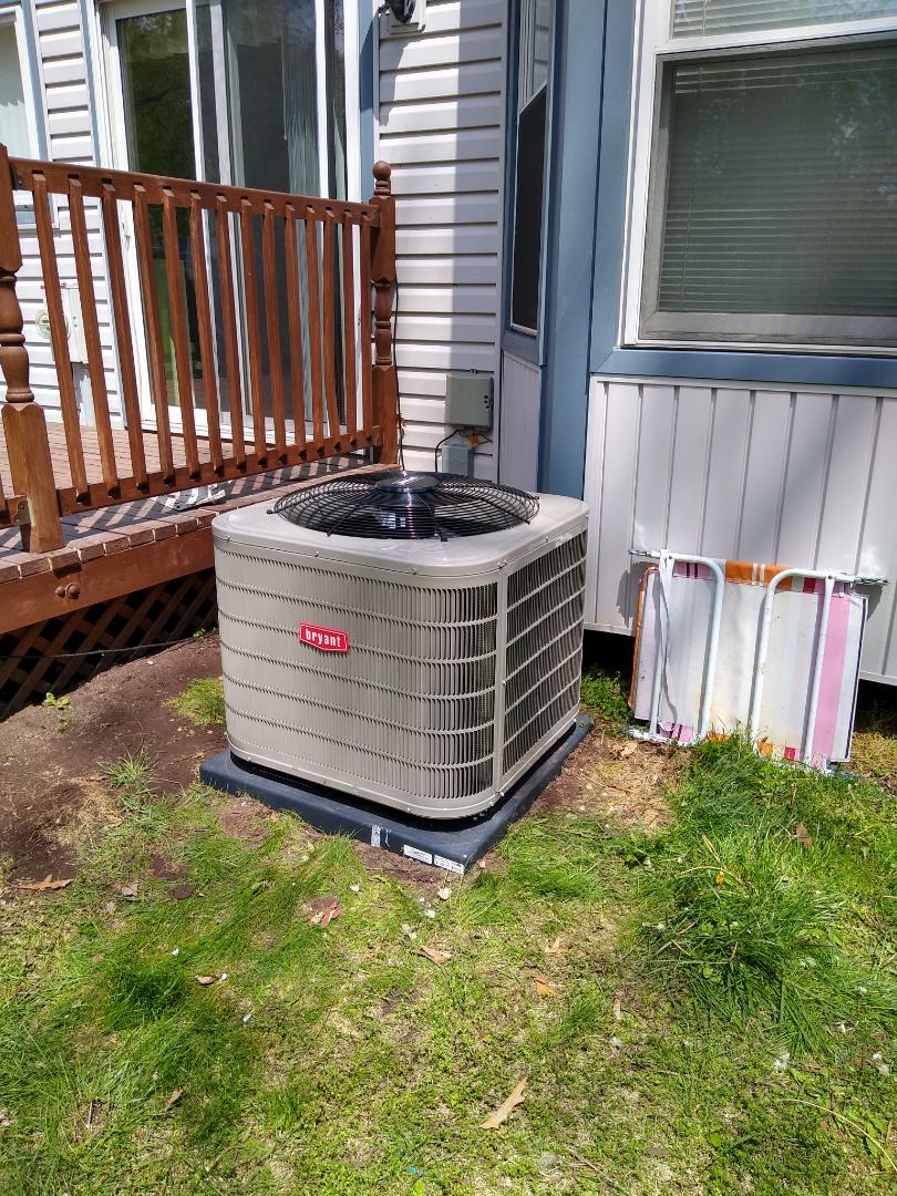 Installed a Bryant central air conditioning system