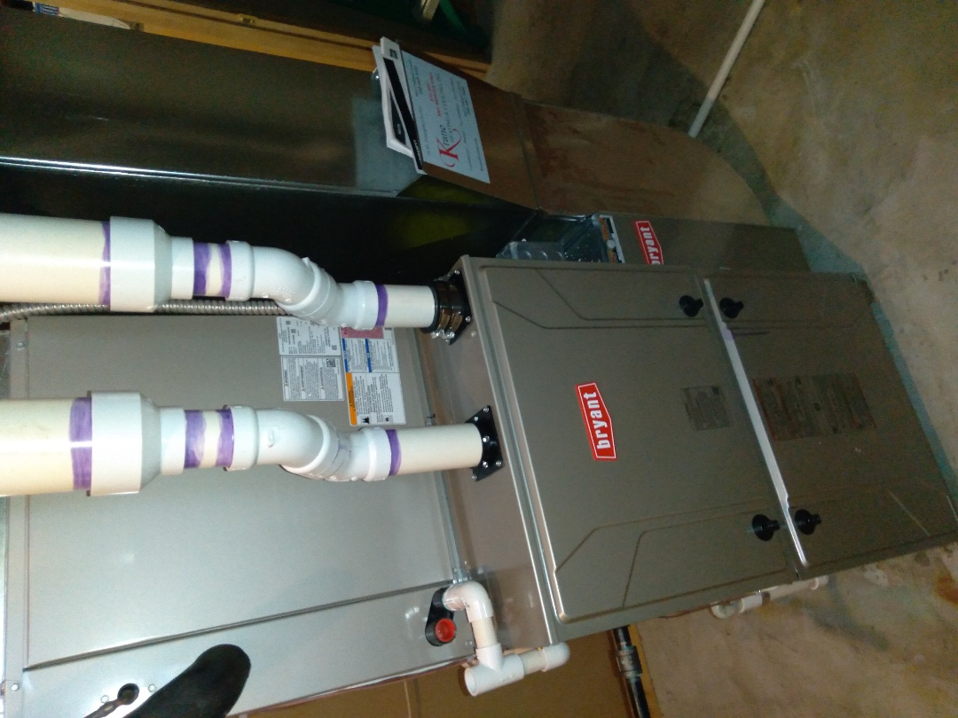 Clarkston, MI - Installed a hundred thousand BTU Bryant high efficient furnace