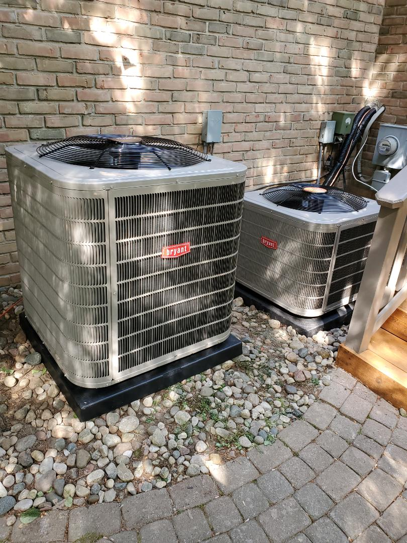 Bloomfield Hills, MI - Install 2 Bryant air conditioners