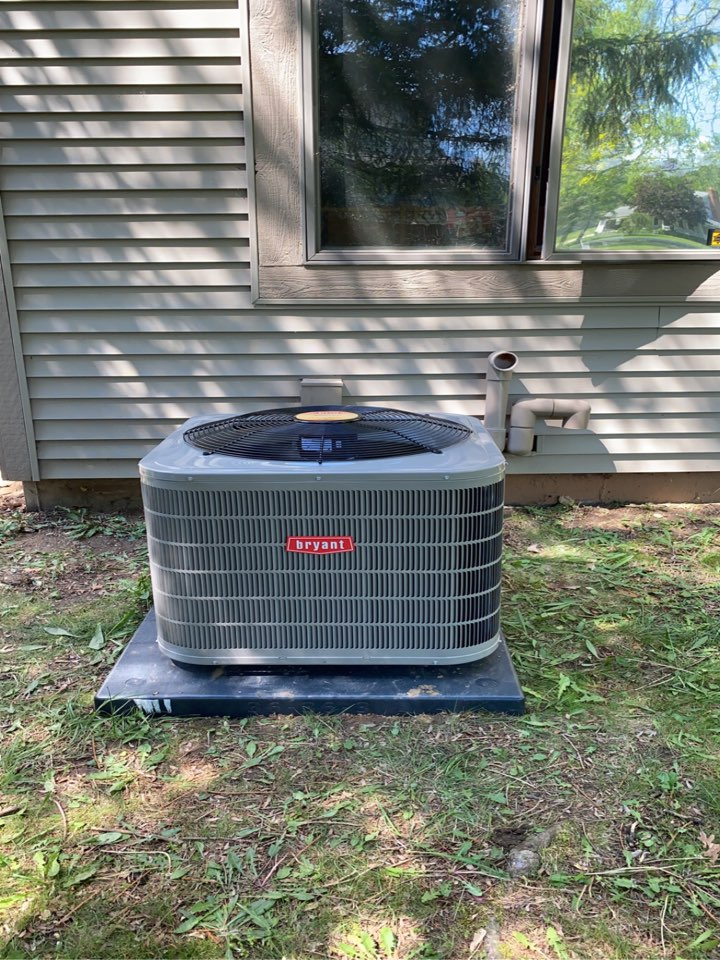Springfield Township, MI - Installed a Bryant 3 ton Air Conditioner
