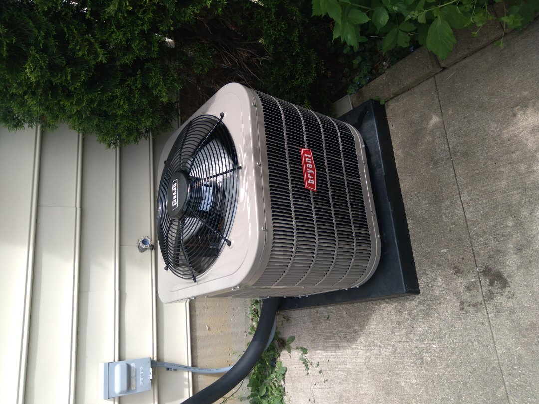 Install the two ton Bryant air conditioner