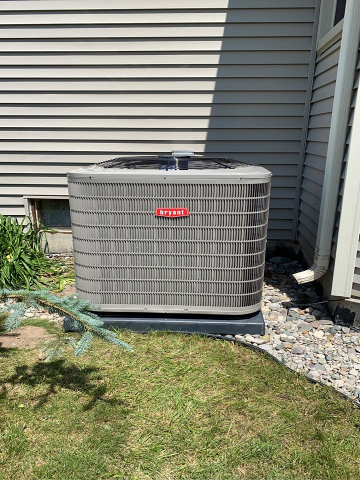 Installed a 90% efficient Bryant Furnace along with a 2.5 ton Bryant air conditioner