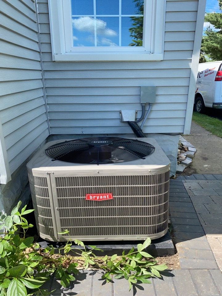 Waterford Township, MI - Installed a 3 ton Bryant air conditioner