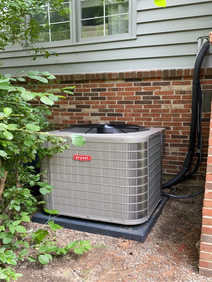 Installed a Bryant 5 ton air conditioner