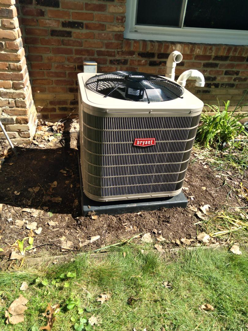 Bloomfield Hills, MI - Installed a three-and-a-half ton Bryant high efficiency air conditioner