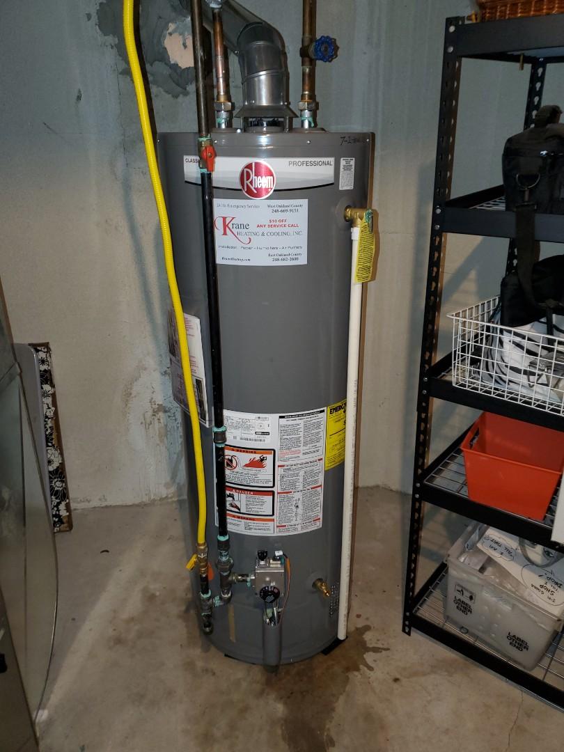 Install a Rheem water heater