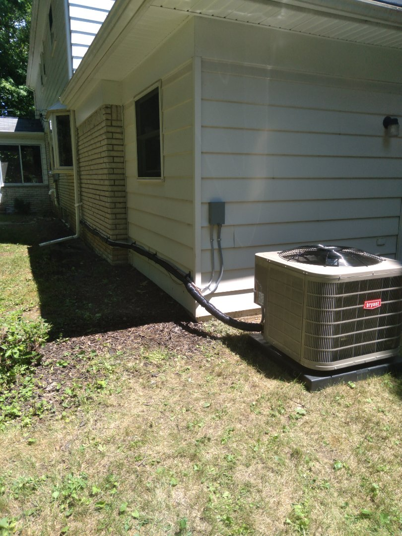 Installed a 3-ton Bryant high efficient air conditioner