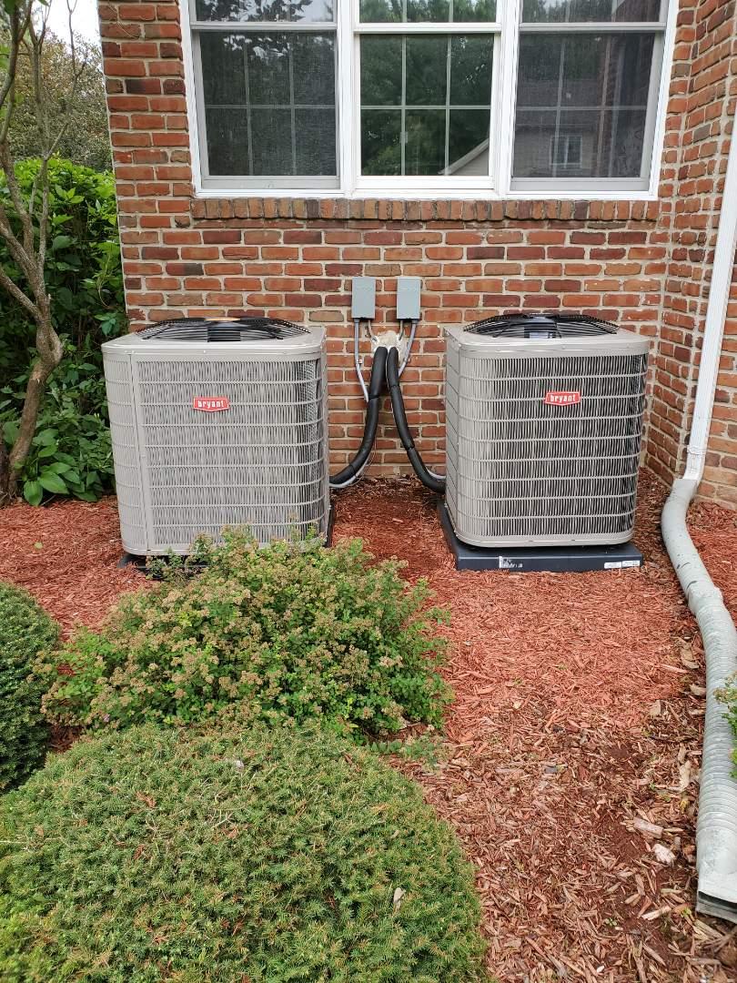 Novi, MI - Install 2 Bryant air conditioner