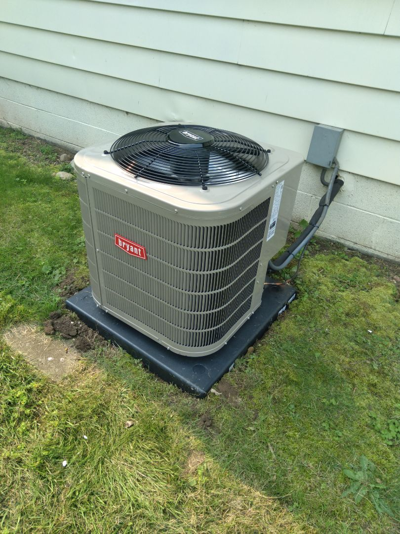 Installed a two and a half ton Bryant air conditioner