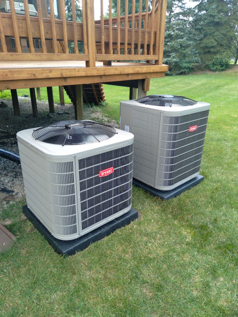 Installed a three and a half and a 4-ton Bryant high efficiency air conditioners