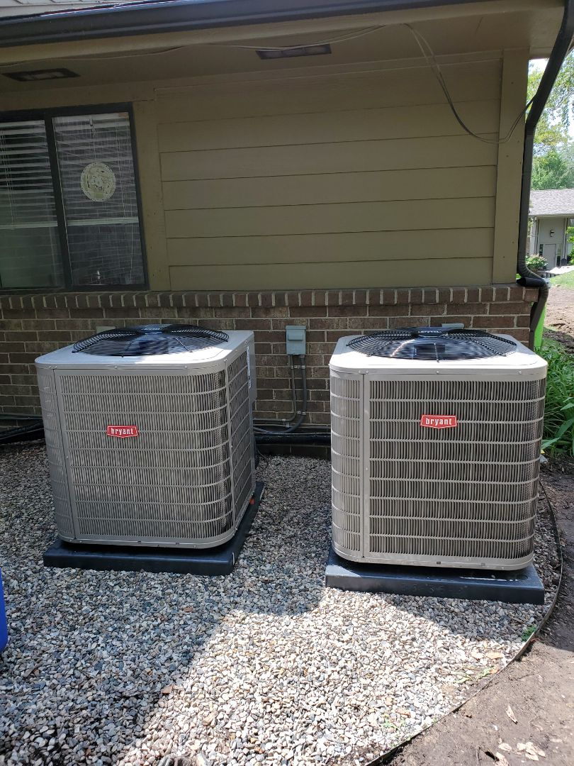 Install 2 Bryant air conditioner