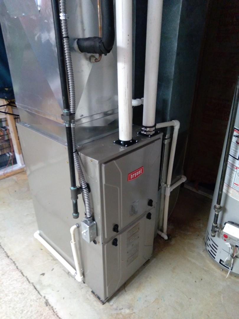 Novi, MI - Install a 60000 BTU Bryant high efficient furnace