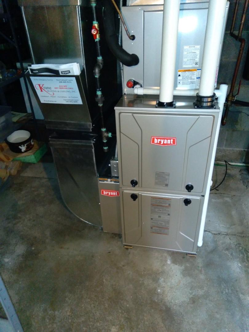 Commerce Charter Township, MI - Installed an 80,000 BTU Bryant high efficient furnace