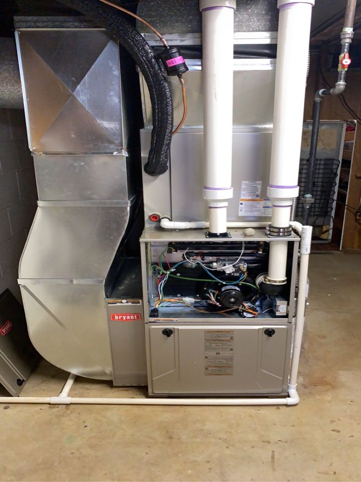 Installed a Bryant 96% efficient Furnace and 3.5 Ton Bryant air conditioner