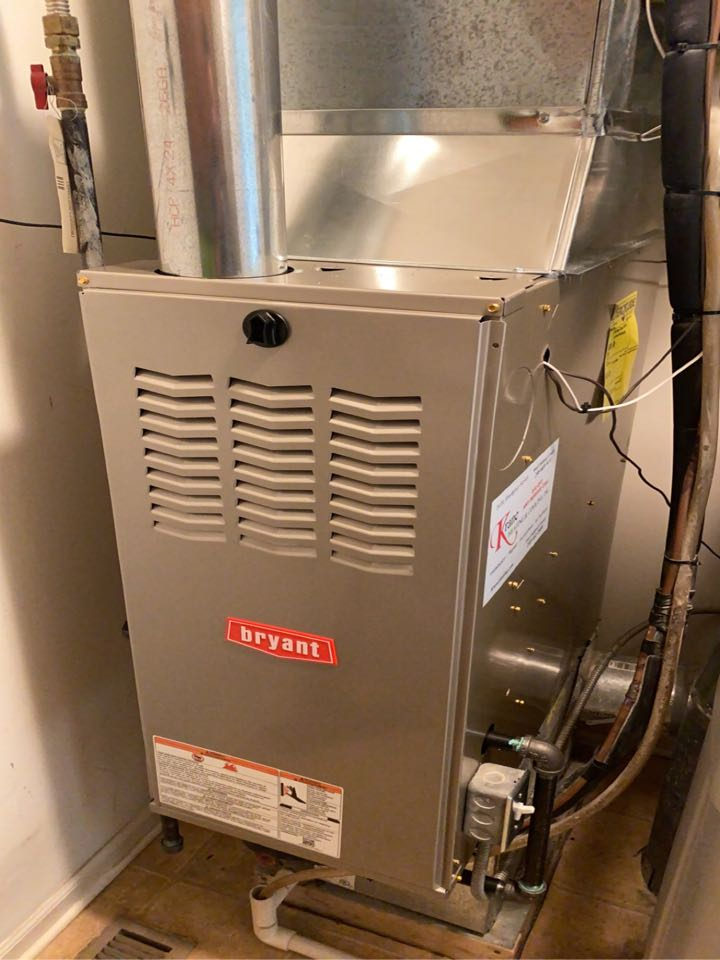 Installed a 80% efficient Bryant Furnace