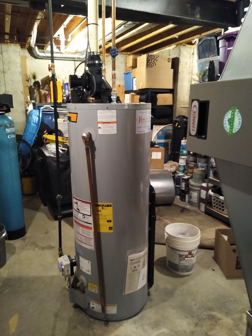 Installed a state power vent water heater