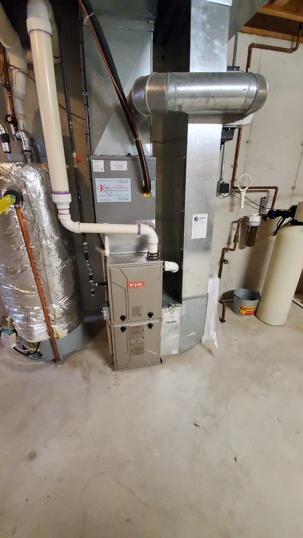 Installed a 96% efficient  Bryant furnace