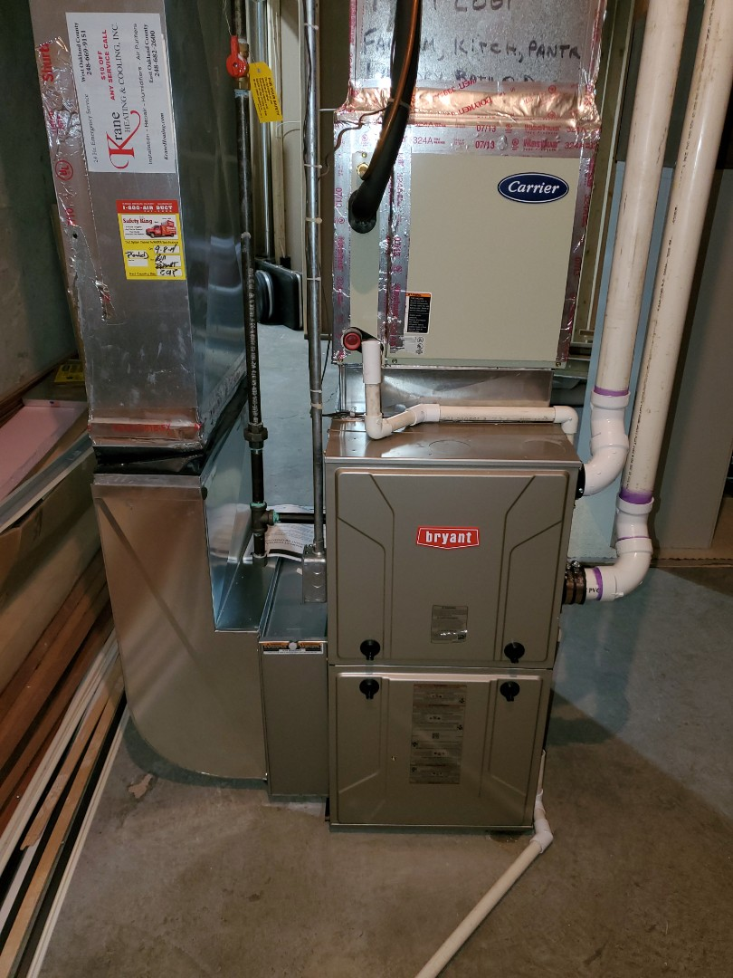 Install the 96% efficient Bryant evolution furnace