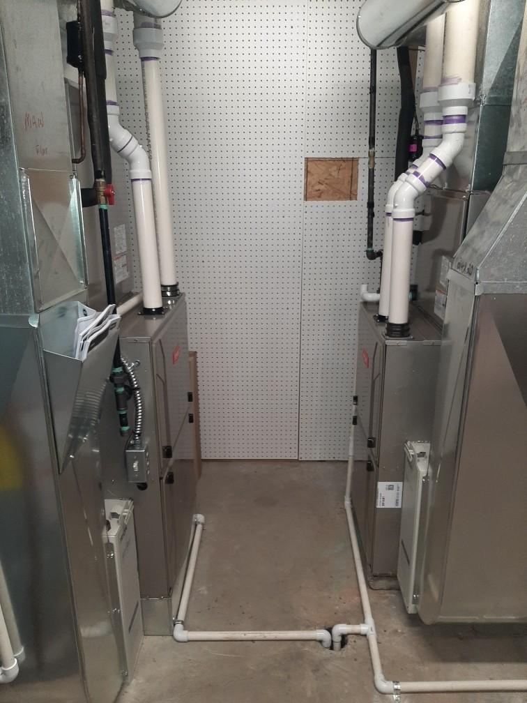 Installed a hundred and twenty thousand BTU and a hundred thousand BTU Bryant high efficient furnaces