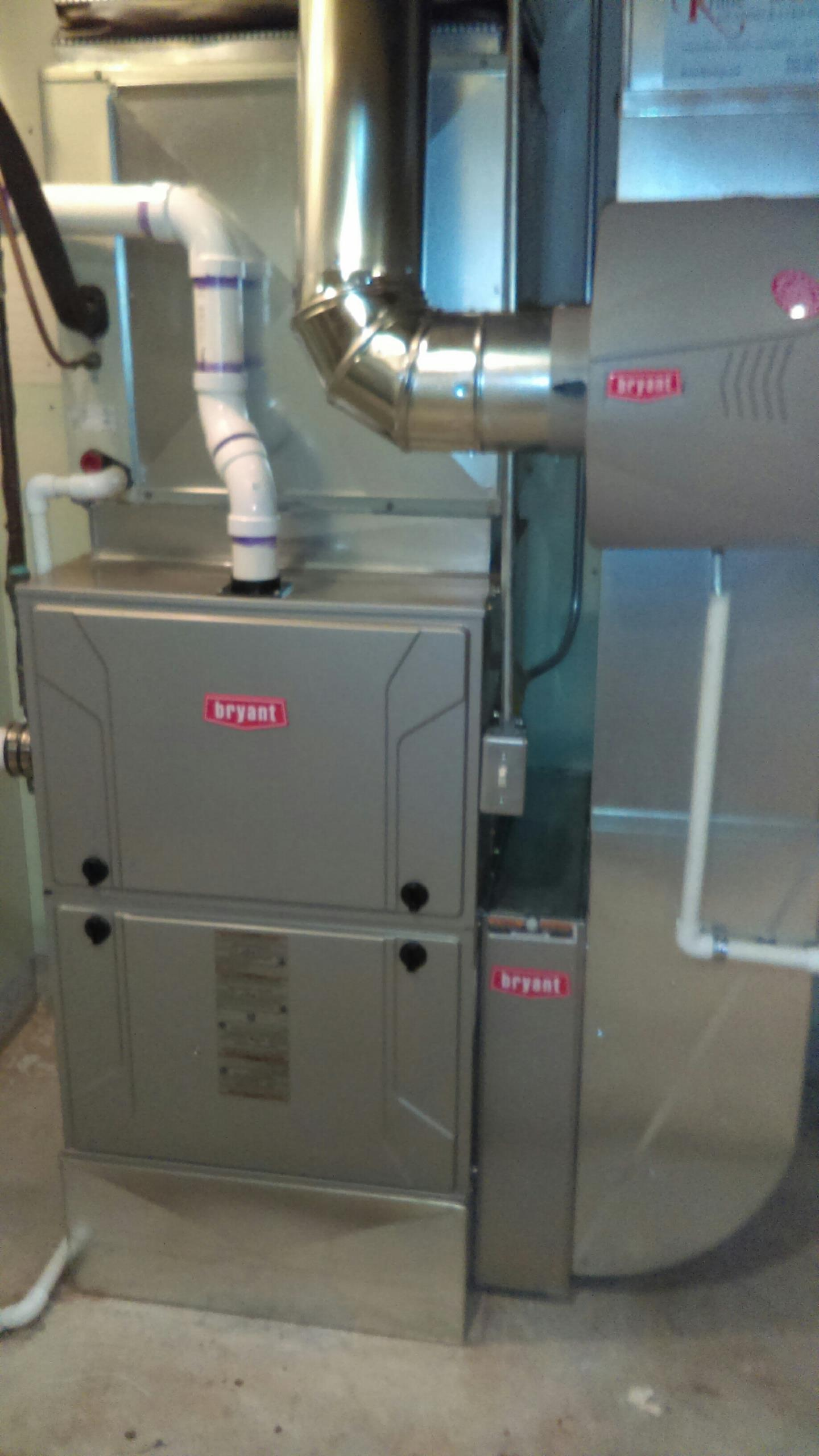 South Lyon, MI - Installed a new Bryant 96% efficient furnace
