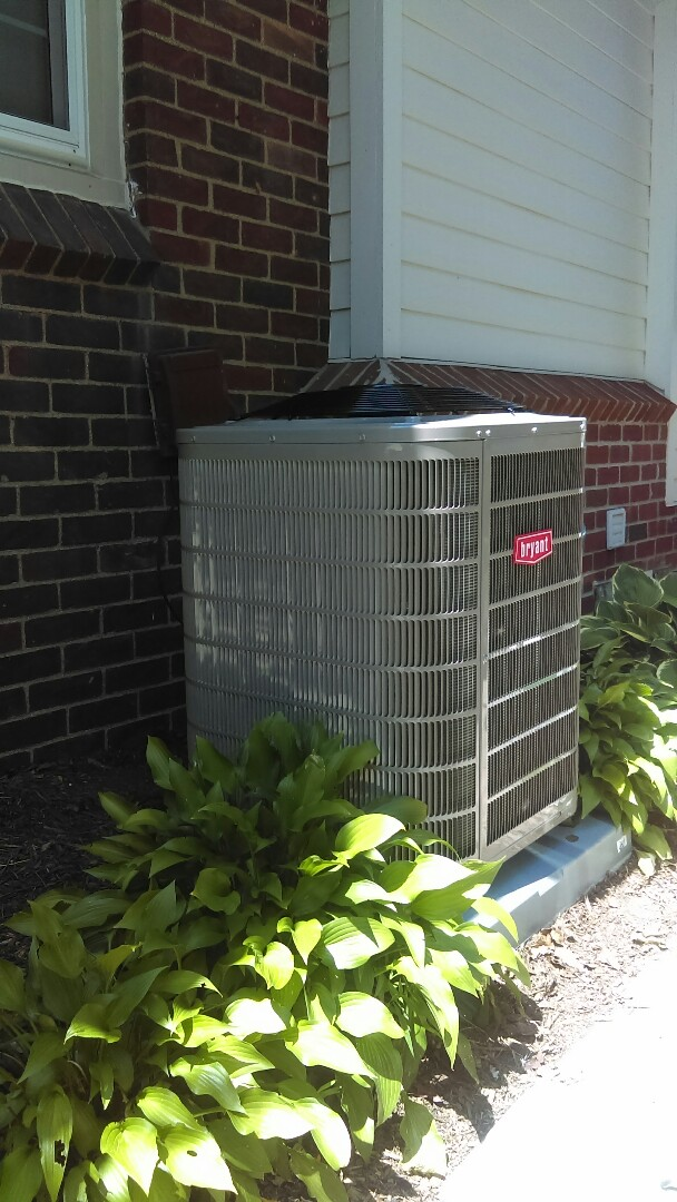 Huntington Woods, MI - Installed a new Bryant air conditioning system