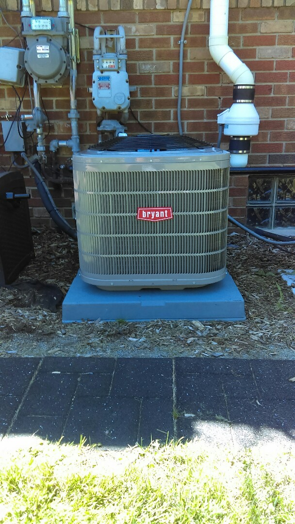Springfield Township, MI - Installed a new Bryant air conditioning system