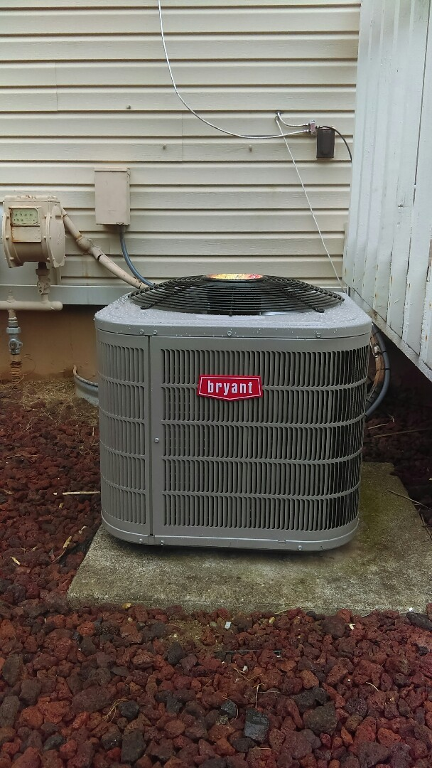 Independence charter Township, MI - Installed a new Bryant air conditioning system