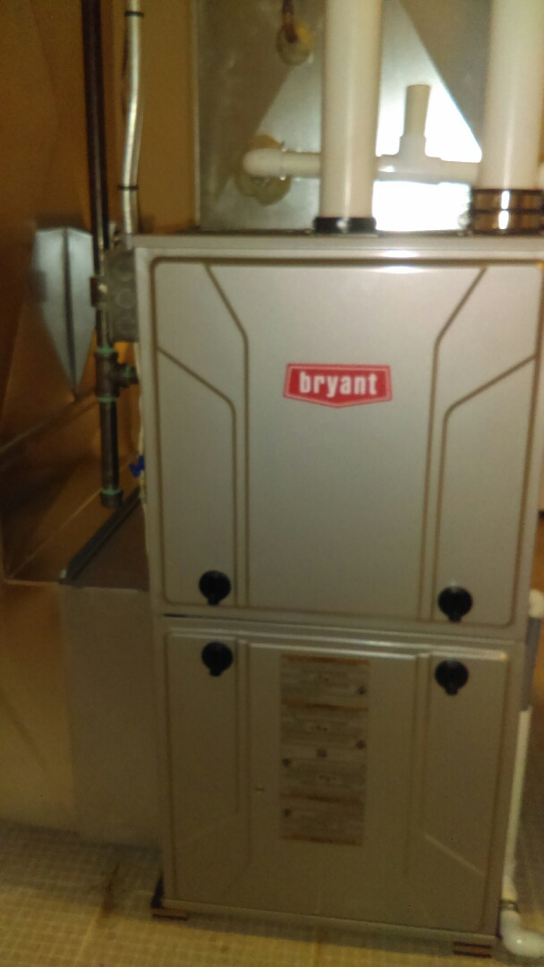 Waterford, MI - Installed a new Bryant 96% efficient furnace