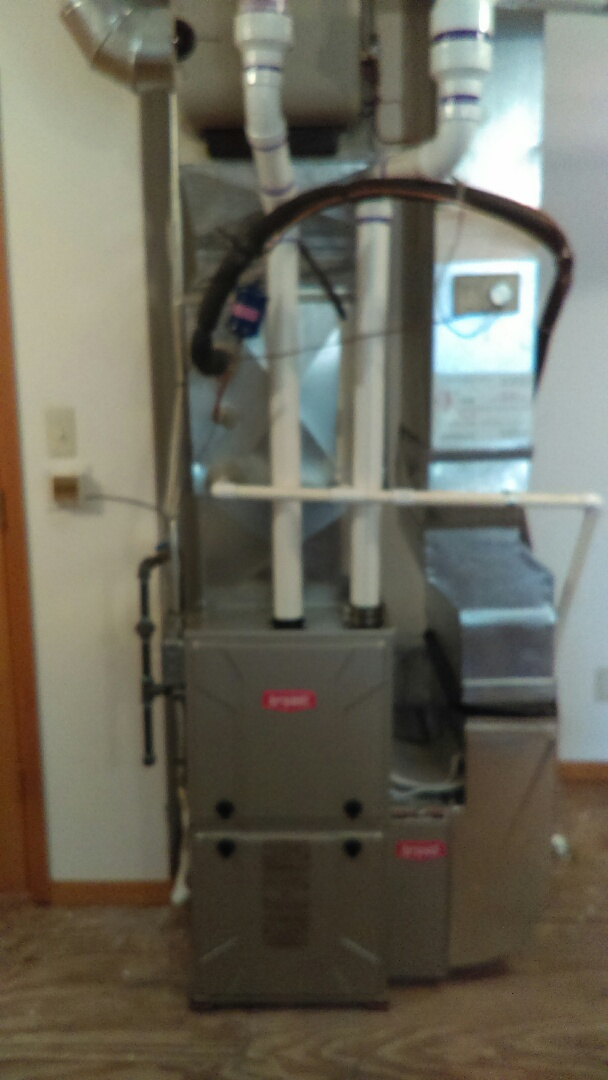 West Bloomfield, MI - Installed a new Bryant 96% efficient furnace