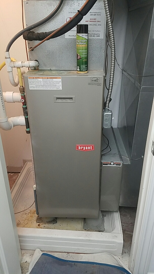 Birmingham, MI - Changing an in warranty secondary heat exchanger