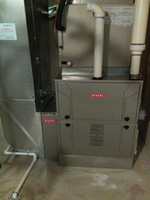 Rochester Hills, MI - Installed a 96% efficient Bryant furnace