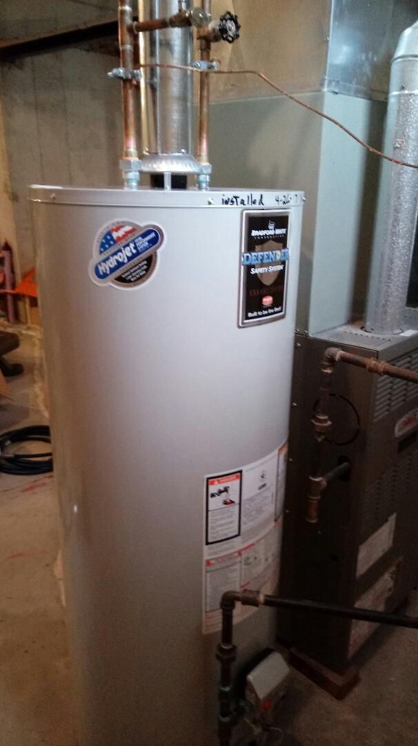 Rochester Hills, MI - Installed a Bradford White Water Heater