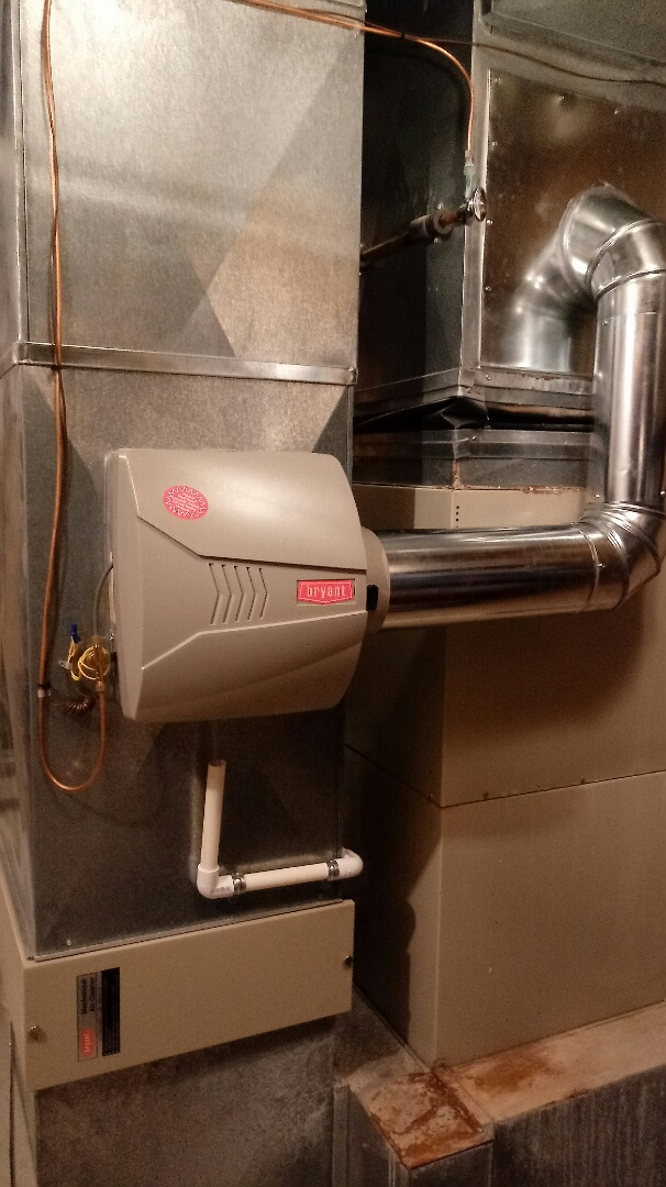 Clarkston, MI - Installed a large Bryant bypass humidifier