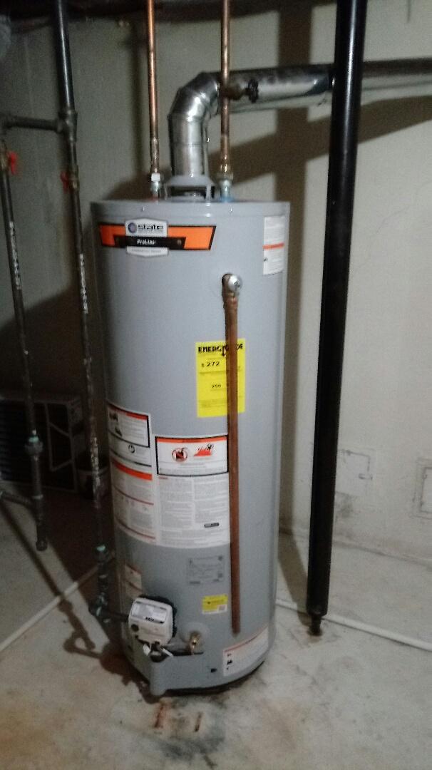 Northville, MI - Installed a state brand water heater