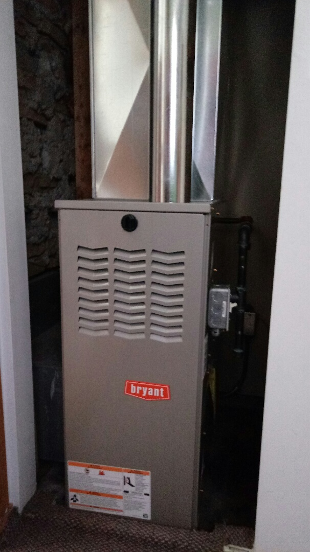 Walled Lake, MI - Installed a Bryant 80% efficient furnace