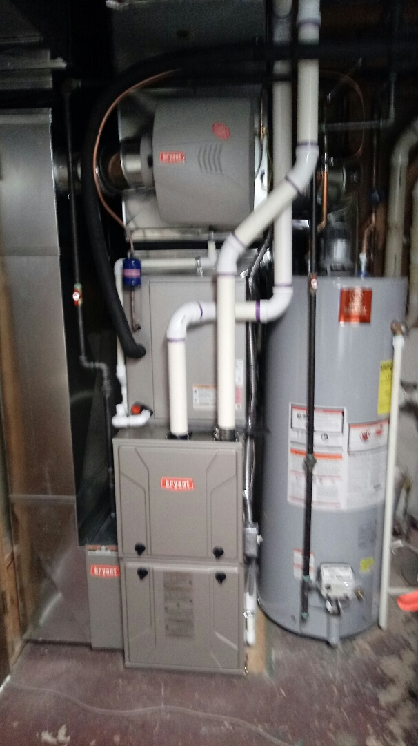 Waterford Township, MI - Installed a Bryant furnace and air conditioner and a state water heater