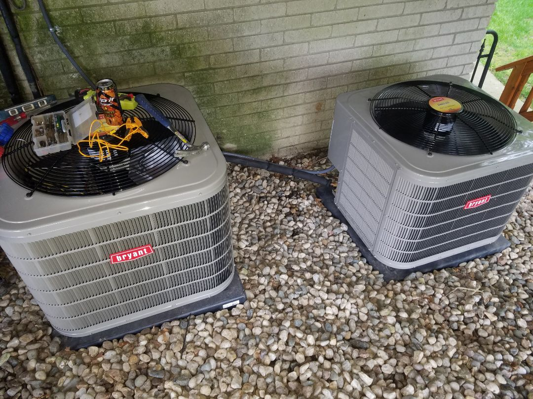 Finishing a double air conditioner