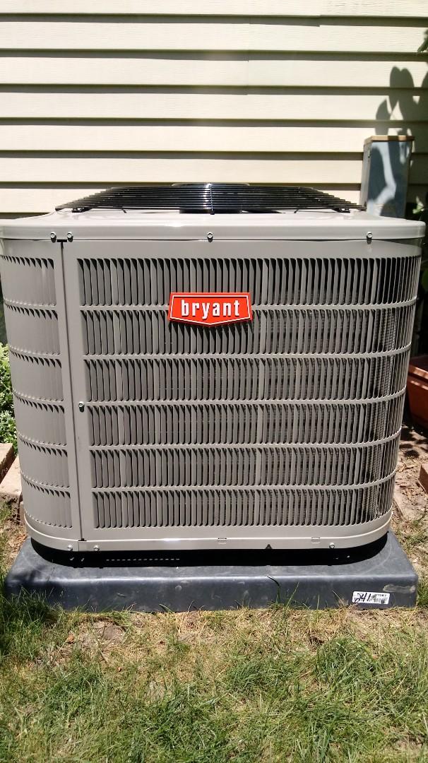 Novi, MI - Installed a Bryant air conditioning system