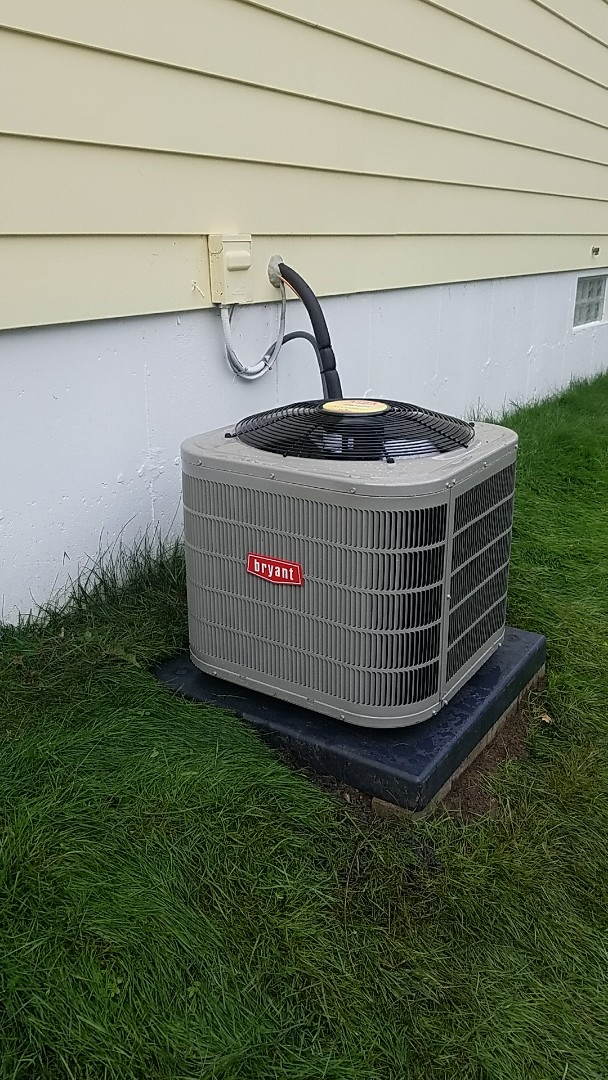 Commerce Charter Township, MI - Dodging rain drops to replace an A/C
