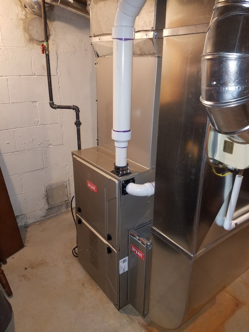Finished up a furnace and air conditioning replacement