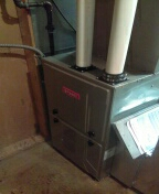 Installed a 96% efficient Bryant furnace and a two and a half ton Bryant air conditioner