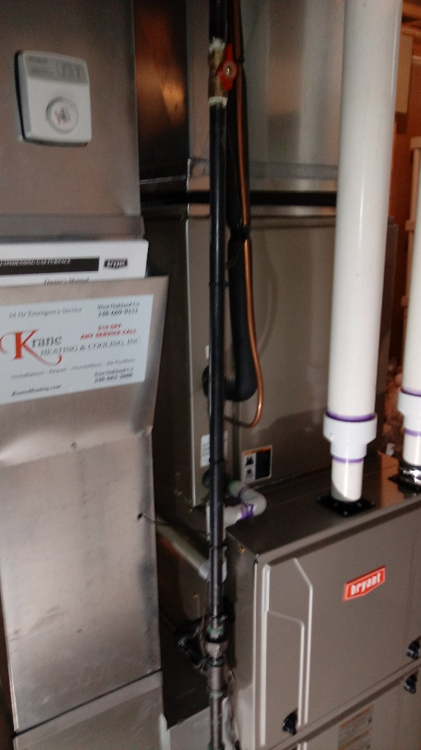 Wixom, MI - Installed a Bryant 96% efficient furnace