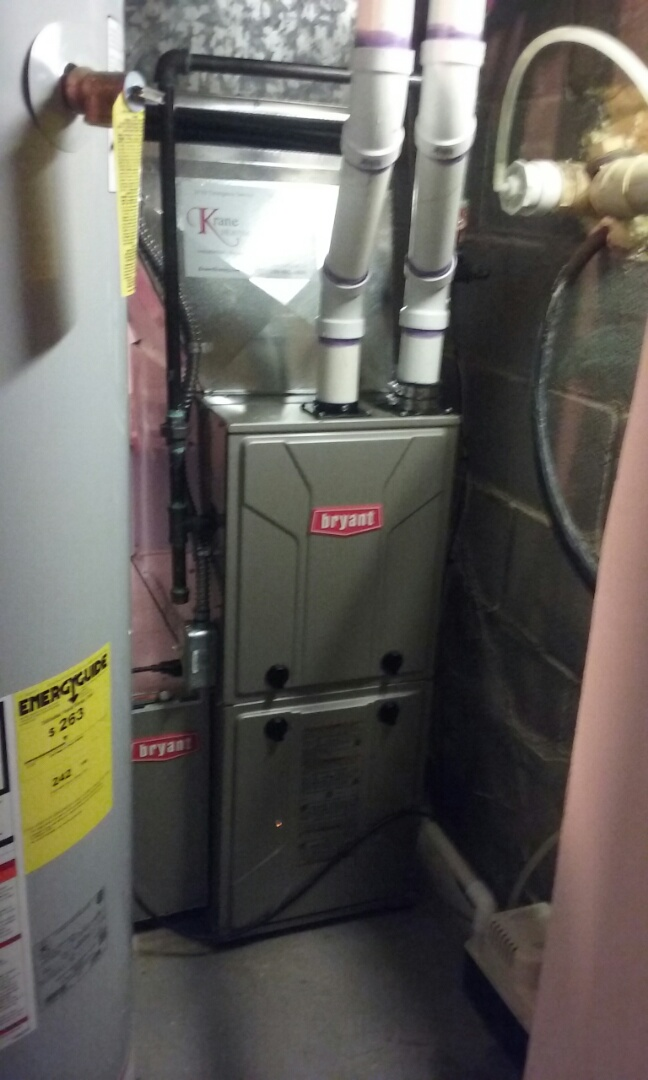 Waterford Township, MI - Installed a 96% Bryant furnace