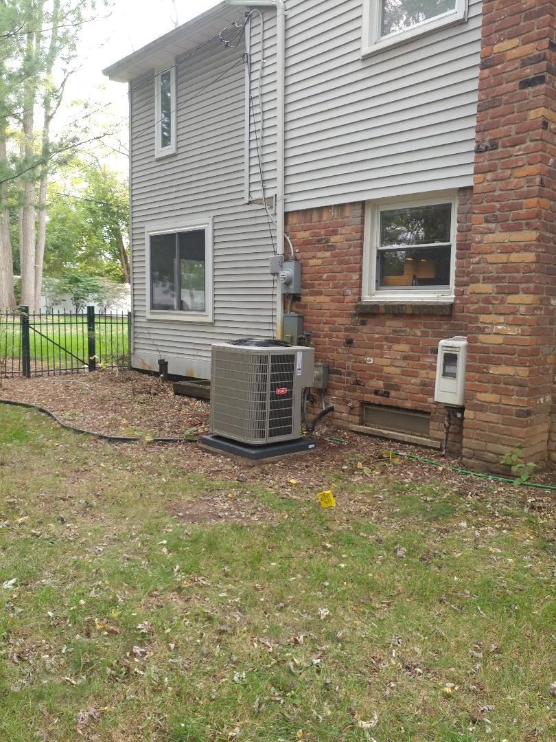 Northville, MI -  installed a Bryant 4 ton air conditioner