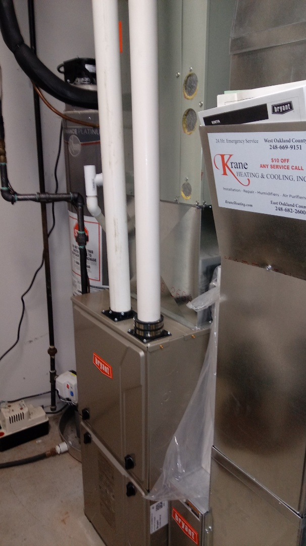 Highland Charter Township, MI - Installed a Bryant 96% efficient furnace
