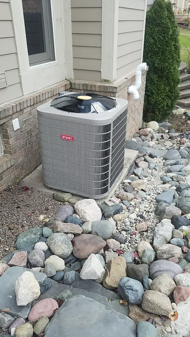 Novi, MI - Furnace and air conditioning replacement before the cold snap
