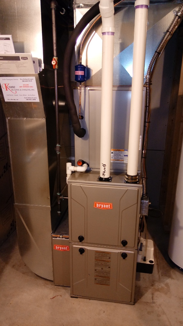 Farmington Hills, MI - Installed a Bryant 98% efficient Evolution system air conditioning and heating