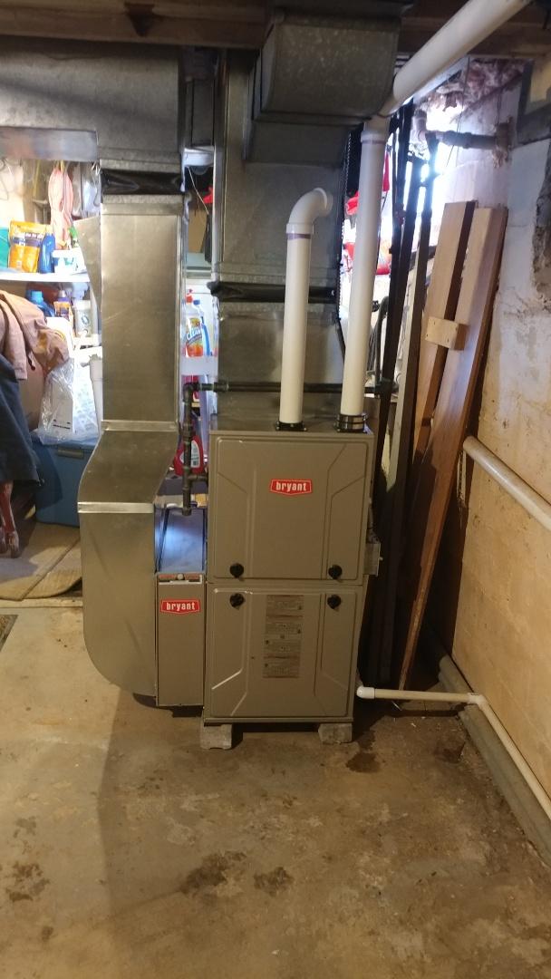 Auburn Hills, MI - Installed a 96% Bryant furnace