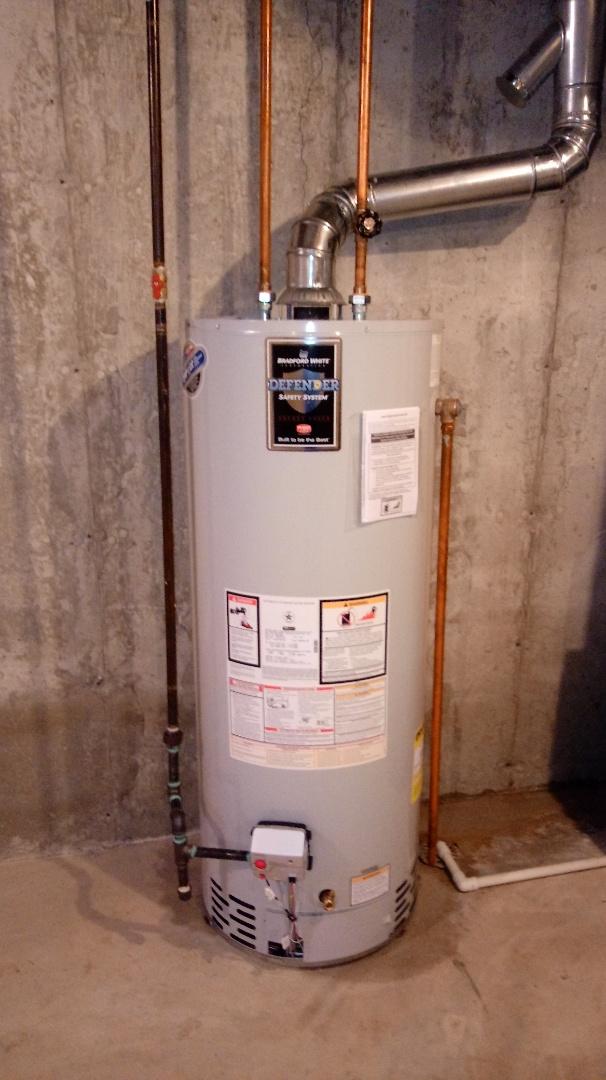 Waterford Township, MI - Installed a Bradford White 50 gallon water heater