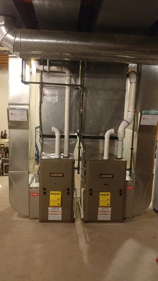 West Bloomfield Township, MI - Installed to 96% luxaire furnaces